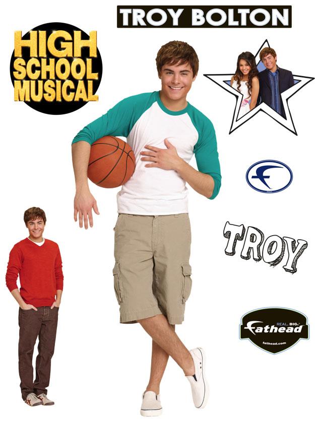 High School Musical's Troy Fathead Disney Wall Graphic