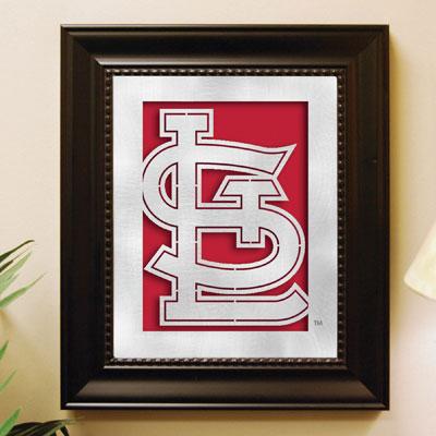 st louis cardinals mlb laser cut framed logo wall art. Black Bedroom Furniture Sets. Home Design Ideas