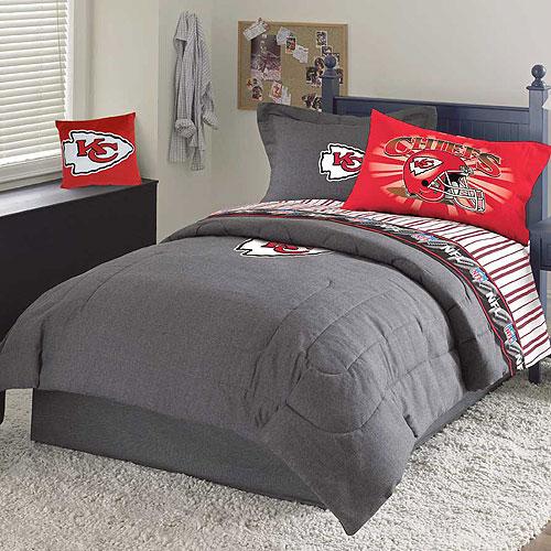 Kansas City Chiefs Nfl Team Denim Full Comforter Sheet Set
