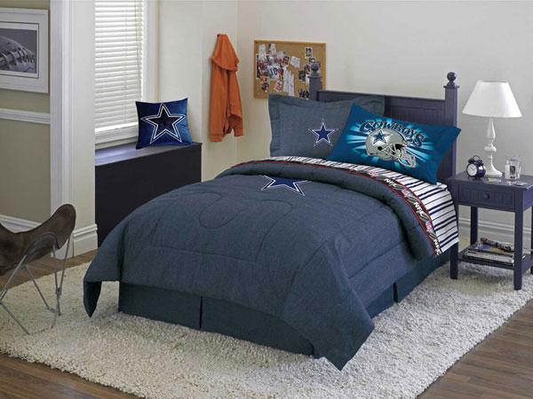 Dallas Cowboys NFL Team Denim Queen Comforter / Sheet Set