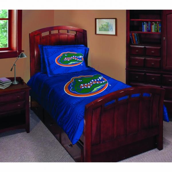 Florida Gators Ncaa College Twin Comforter Set 63 X 86