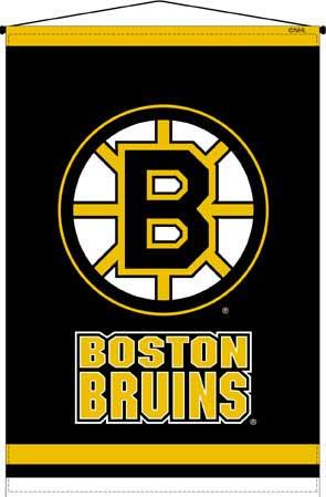 Boston bruins 29 x 45 deluxe wallhanging - Boston bruins wallpaper border ...