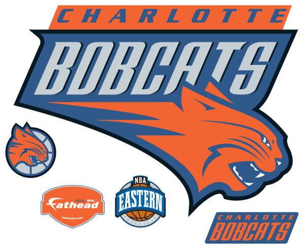 Charlotte Bobcats Logo Fathead Nba Wall Graphic