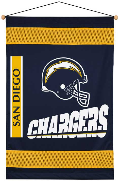 San Diego Chargers Side Lines Wall Hanging