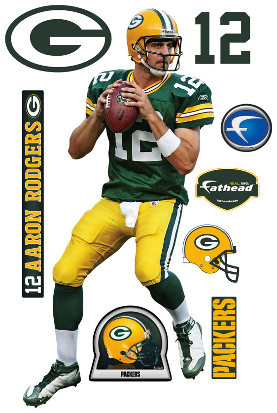 Aaron Rodgers Fathead Nfl Wall Graphic