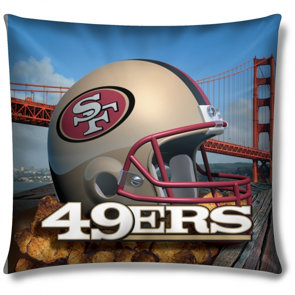 san francisco 49ers nfl 18 photo real pillow. Black Bedroom Furniture Sets. Home Design Ideas