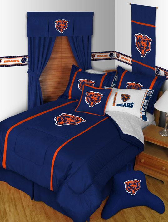 Chicago Bears Mvp Window Drapes