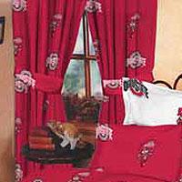 Ohio State Buckeyes 100 Cotton Sateen Short Window Drapes