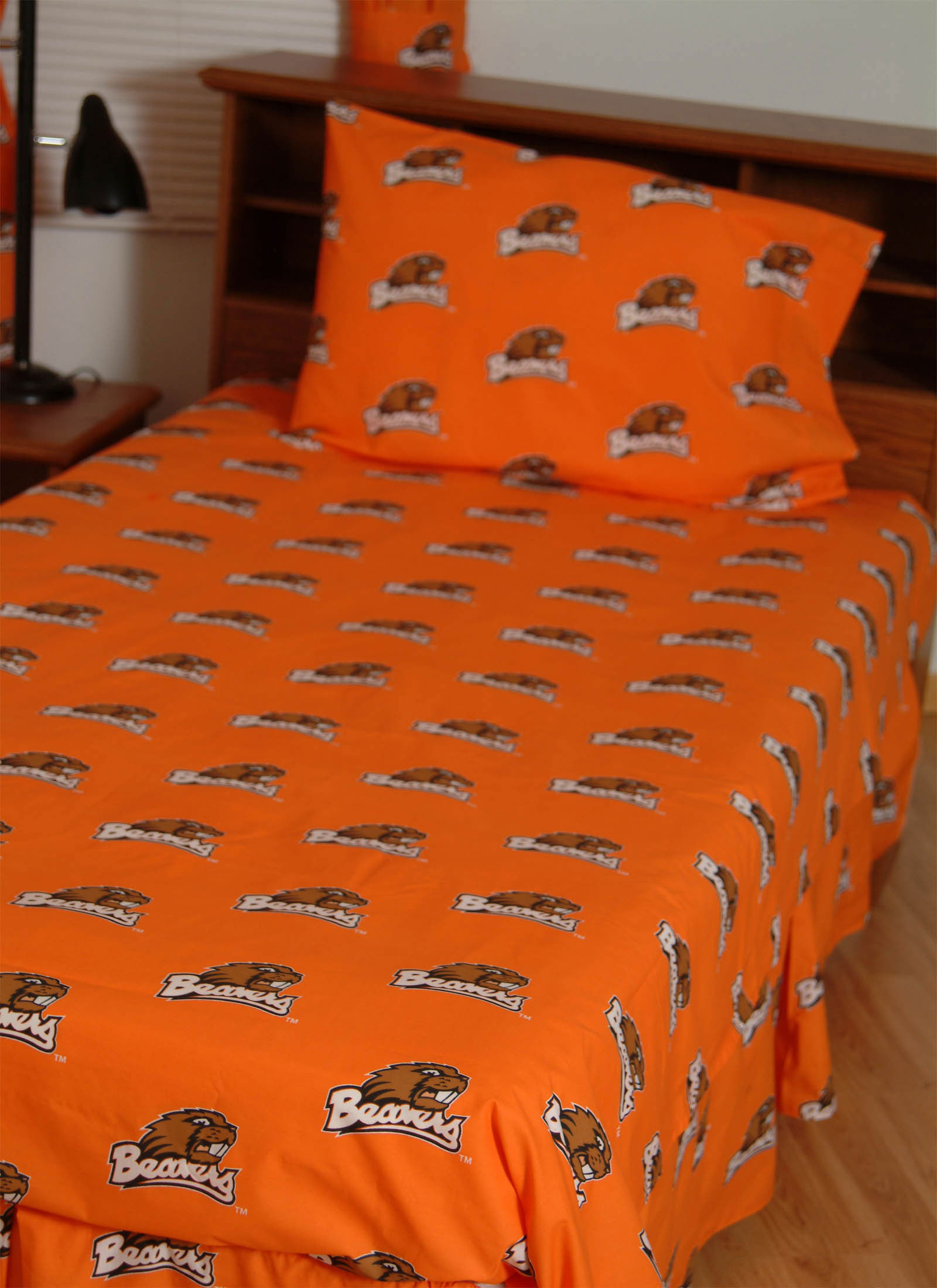 Oregon State Beavers 100 Cotton Sateen Twin Sheet Set