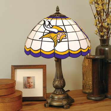 Minnesota Vikings Nfl Stained Glass Tiffany Table Lamp