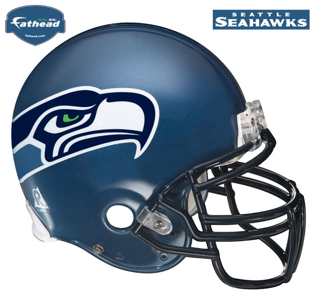 Seattle Seahawks Helmet Fathead Nfl Wall Graphic