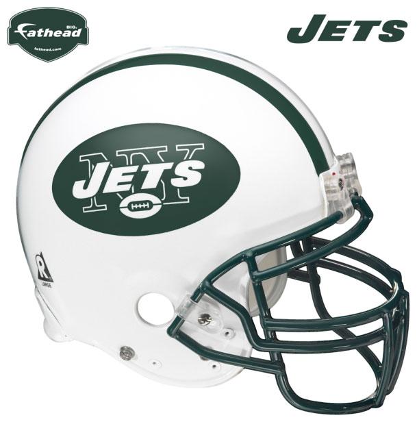 New York Jets Helmet Fathead Nfl Wall Graphic