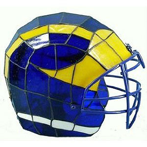 Ncaa Michigan Wolverines Stained Glass Football Helmet Lamp