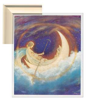 Moonboat To Dreamland Framed Canvas