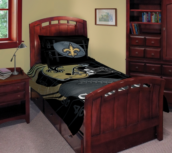 "new orleans saints nfl twin comforter set 63"" x 86"""
