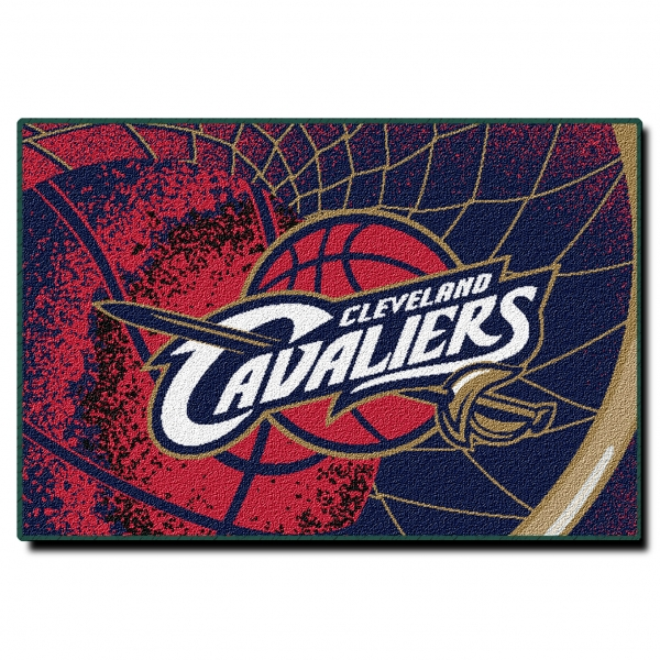 "Cleveland Cavaliers Fans Scale Walls To Get Photos Of Nba: Cleveland Cavaliers NBA 39"" X 59"" Tufted Rug"