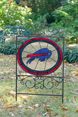 Buffalo Bills Nfl Stained Glass Outdoor Yard Sign