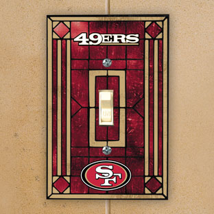 san francisco 49ers nfl art glass single light switch. Black Bedroom Furniture Sets. Home Design Ideas