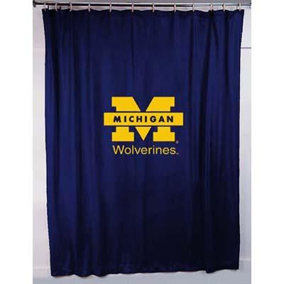 Michigan Wolverines Locker Room Shower Curtain Zoom