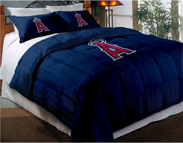 Los Angeles Angels Mlb Twin Chenille Embroidered Comforter