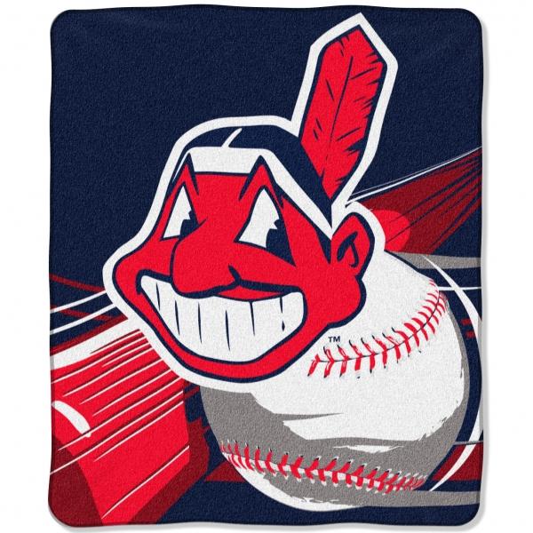 Cleveland Indians Mlb Quot Big Stick Quot 50 Quot X 60 Quot Super Plush Throw