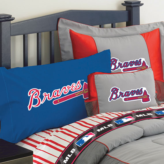 Atlanta Braves Blue With Braves Logo Pillow Case