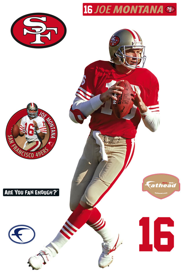 Joe Montana Fathead NFL Wall Graphic