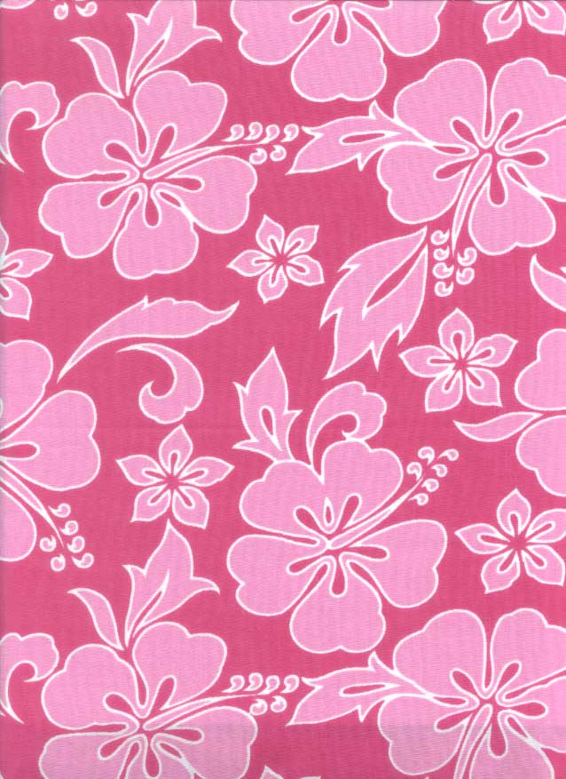 Sheet Set Pink Hibiscus Print