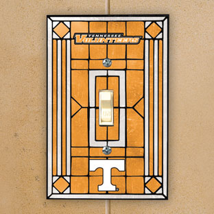 Tennessee Vols Ncaa College Art Glass Single Light Switch