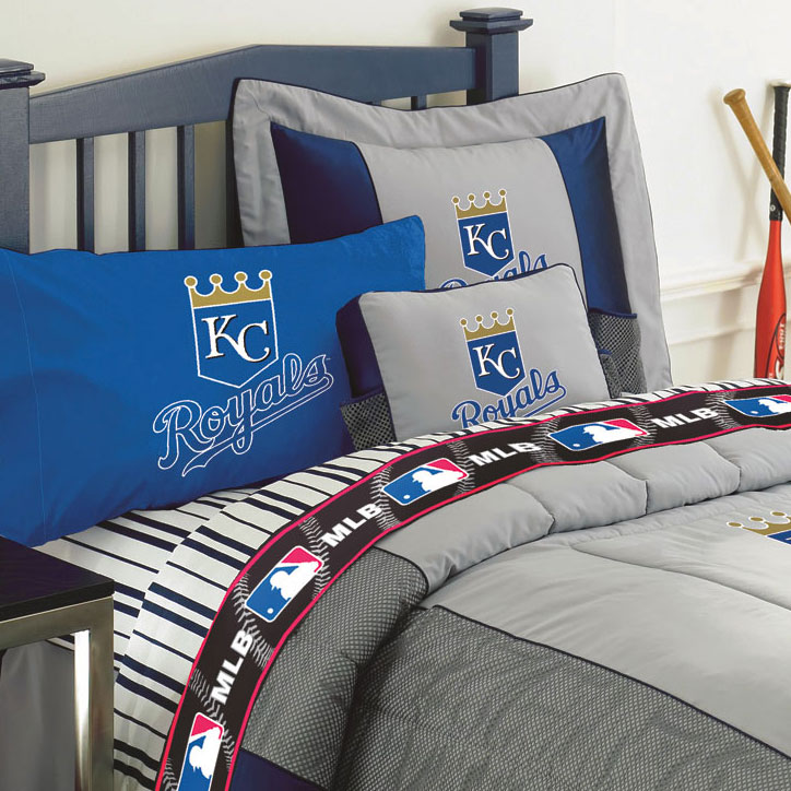Kansas City Royals Twin Size Sheets Set