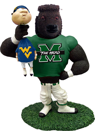 Marshall Ncaa College Rivalry Mascot Figurine