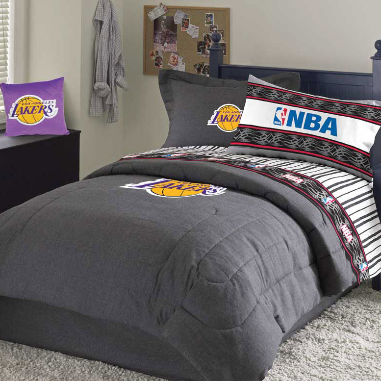 Los Angeles Lakers Team Denim Standard Pillowsham