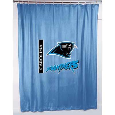 Carolina Panthers Locker Room Shower Curtain