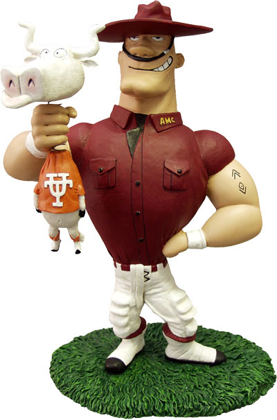 Texas A Amp M Aggies Ncaa College Rivalry Mascot Figurine