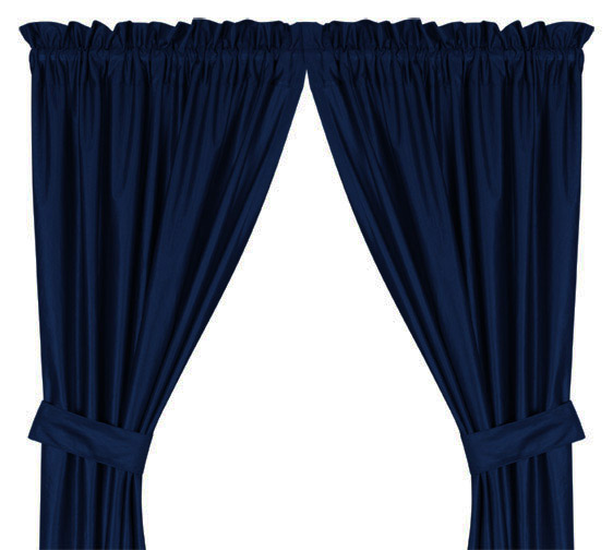 Mlb Jersey Mesh Sidelines Blue Window Drapes