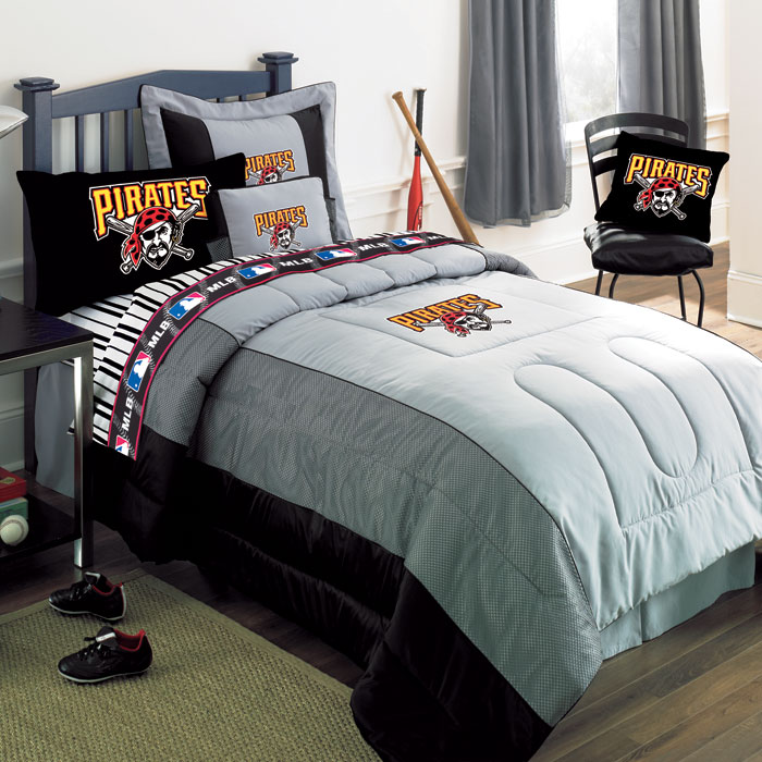 pittsburgh pirates mlb authentic team jersey bedding full size comforter sheet set. Black Bedroom Furniture Sets. Home Design Ideas