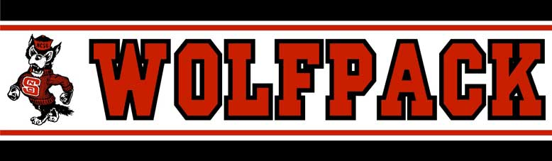 North Carolina State Wolfpack Wallpaper Border
