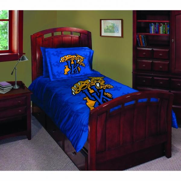 Kentucky Wildcats Ncaa College Twin Comforter Set 63 Quot X 86 Quot
