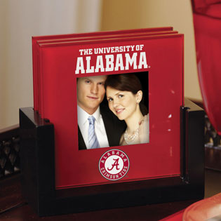Alabama Crimson Tide Ncaa College Art Glass Photo Frame