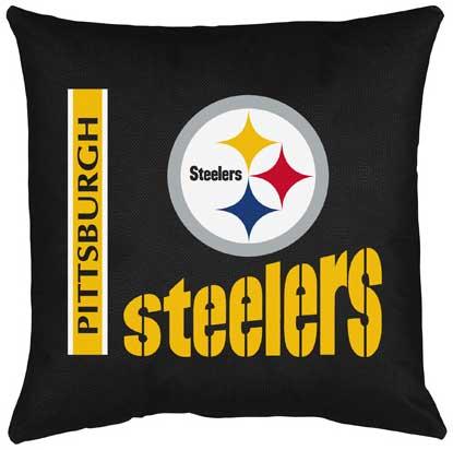 pittsburgh steelers locker room toss pillow
