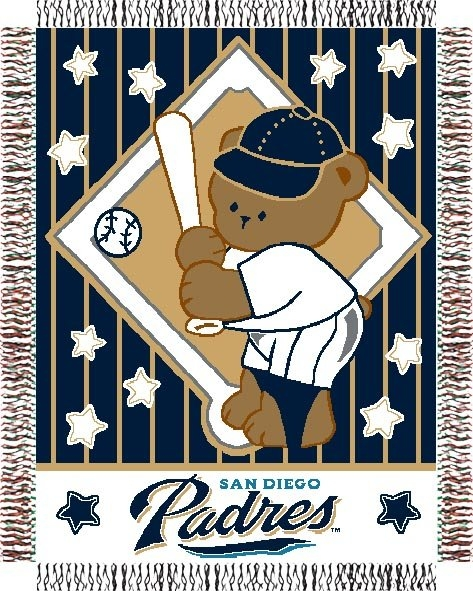 San Diego Padres Mlb Baby 36 Quot X 46 Quot Triple Woven Jacquard Throw