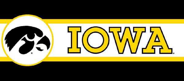 Iowa Hawkeyes 7 Tall Wallpaper Border
