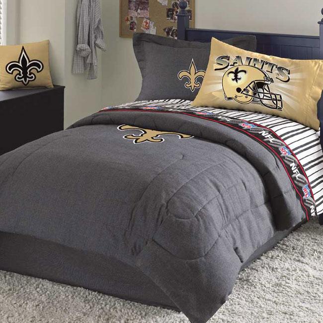 New Orleans Saints Queen Size Sheets Set