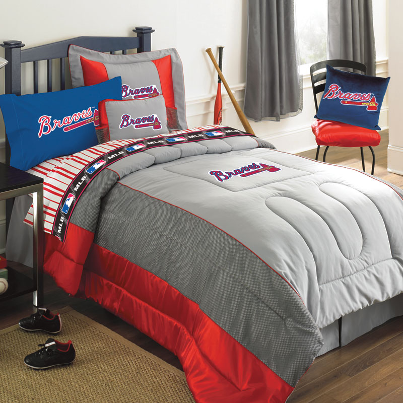 Atlanta Braves Mlb Authentic Team Jersey Twin Bedding Set
