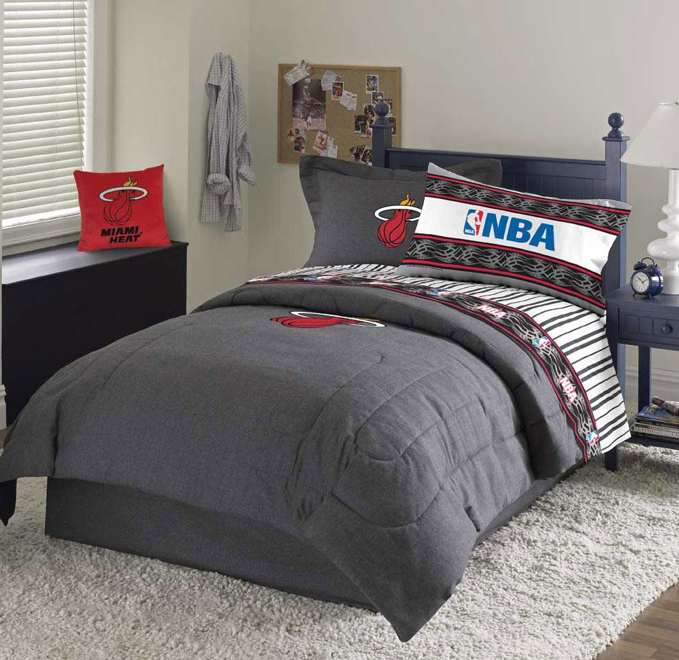 Miami Heat Team Denim Twin Comforter