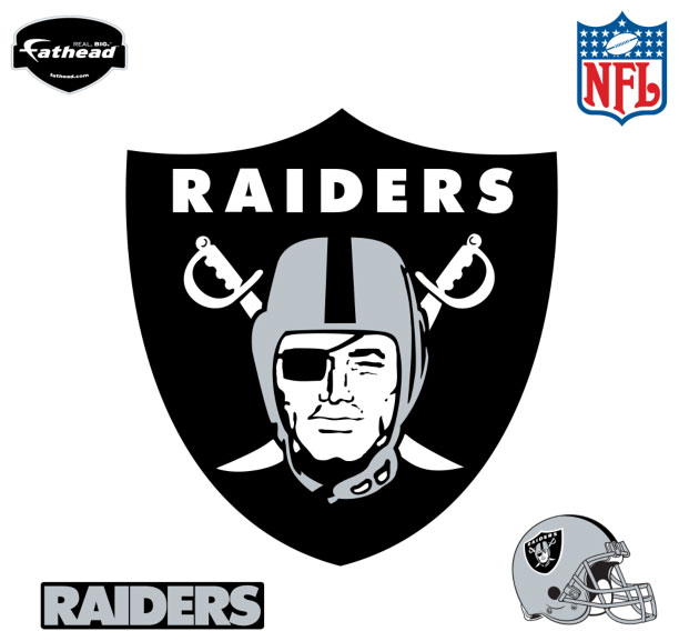 Oakland Raiders Logo Fathead Nfl Wall Graphic