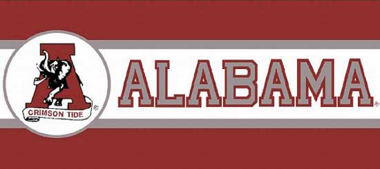Alabama Crimson Tide Tall Wallpaper Border