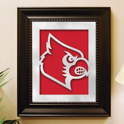 louisville cardinals ncaa college laser cut framed logo
