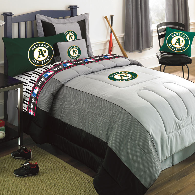 Oakland Athletics Mlb Authentic Team Jersey Bedding Full