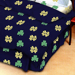 Notre Dame Fighting Irish 100 Cotton Sateen Full Bed